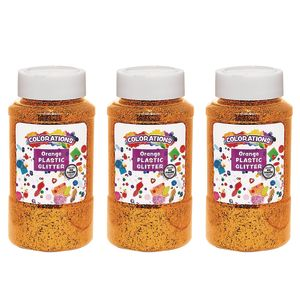 Colorations® Extra-Safe Plastic Glitter, Orange - 3 lbs.