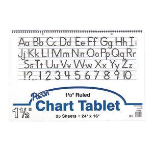 Manuscript Chart Tablet - 25 Sheets