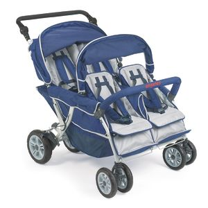 Angeles® SureStop™ Folding Commercial Bye-Bye® Stroller - 4 Passenger