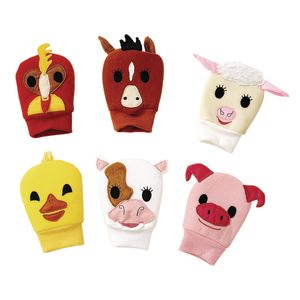 Excellerations® Happy Hands Farm Puppets - Set of 6