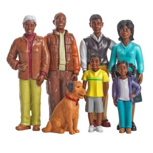 Excellerations® Pretend Play Figures - Extended African-American Family