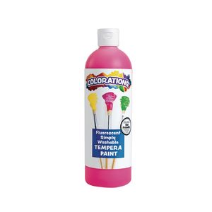 Colorations® Simply Washable Tempera Paint, Fluorescent Pink - 16 oz.