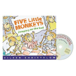 Five Little Monkeys Jumping on the Bed Book & CD