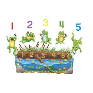 Five Speckled Frogs Felt Set