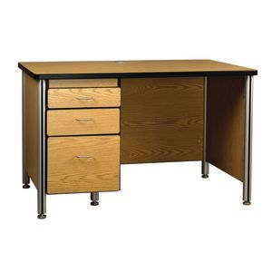 Teacher's Desk with File Cabinet