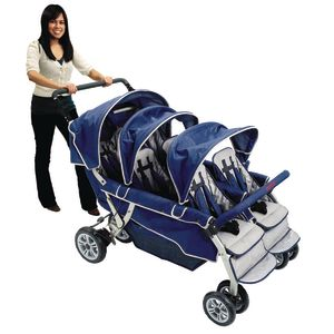 Angeles® SureStop™ Folding Commercial Bye-Bye® Stroller - 6 Seat
