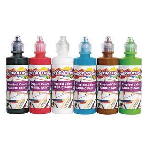 Colorations® 4 oz. Fabric Paint Tropical Colors - Set of 6