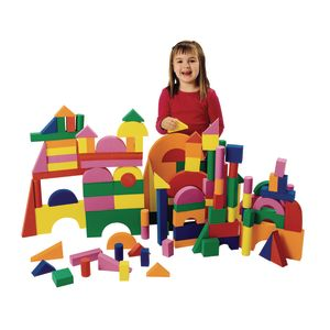Excellerations® Foam Unit Floor Blocks - 126 Pieces