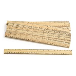 Excellerations® Wooden Rulers - Set of 12