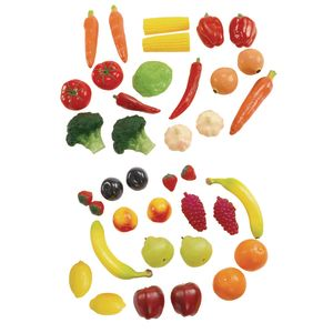 Life-Sized Fruit & Veggies - 38 Pieces