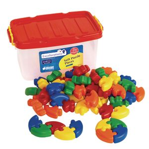 Excellerations® Soft Puzzle Pieces - 62 Pieces