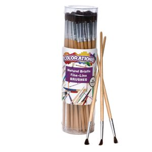 Colorations® Fine Line All-Purpose Easel Brush - Set of 60