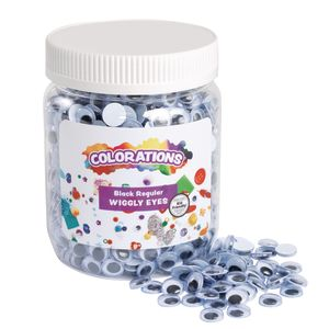 Colorations® Wiggly Eyes, Black - 1,000 Pieces