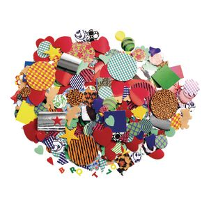 Paper Popz™ Colors & Patterns Pasting Pieces, 1500 pcs.