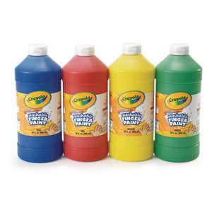 Crayola® 32 oz. Washable Finger Paint - Set of 4