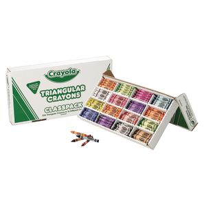 Crayola® Triangular Anti-Roll® Crayon Classpack - Set of 256