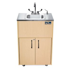 Ozark River® Portable Hot Water Sink with Stainless Top and Basin