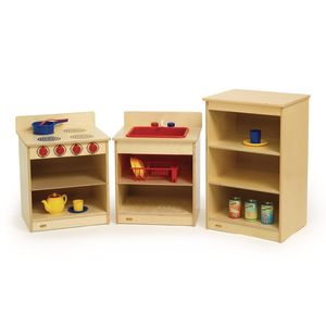 Toddler Wood Kitchen - 3 Piece Set