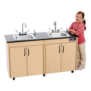 Ozark River® Lil' Delux™ Portable Hot Water Dual Sink with Laminate Top and Stainless Basins