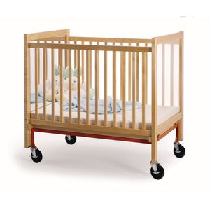 Whitney Brothers Adjustable Natural Clear View/Mirror Crib