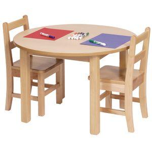 "30"" Round Maple Laminate Table - 22""H"