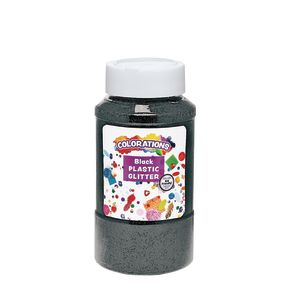 Colorations® Extra-Safe Plastic Glitter, Black - 1 lb.