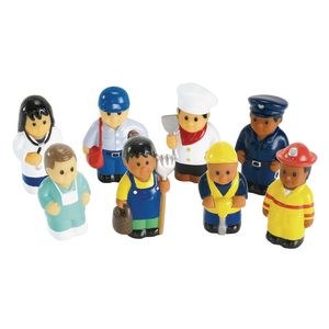 Soft Multicultural Career Figures - Set of 8
