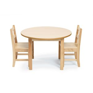 "28"" Round Maple Table & Chair Set"