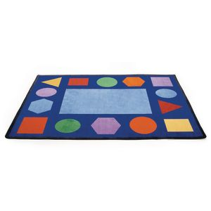 "Geometric Shapes Carpet - 5'10"" x 8'5"" Rectangle"