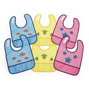 Waterproof Sea Creature Bibs - Set of 6