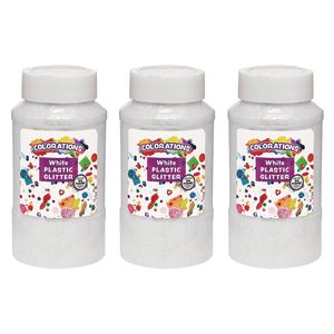 Colorations® Extra-Safe Plastic Glitter, White - 3 lbs.