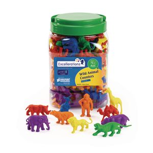 Excellerations® Wild Animal Counters - 120 Pieces