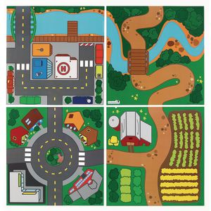 Excellerations® Block Play Scenery Mats - Set of 4