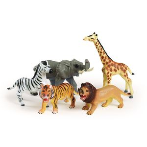 Jumbo Soft Jungle Animals - Set of 5