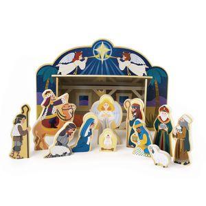 Wooden Nativity Set - 12 Piece Set