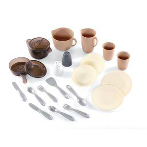 Toddler Play Dish & Pan Set - 22 Pieces