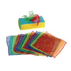 Excellerations® Plush Pull & Play Tissue Box - 12 Scarves