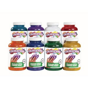 Colorations® Washable Glitter Finger Paint, 16 oz.
