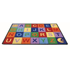 Alphabet Seating Rug, Rectangle - 5'10