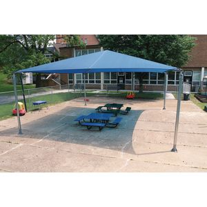Blue Stand Alone Shade Structure - 20 x 24