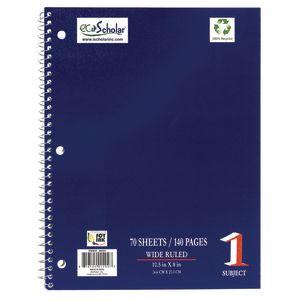 Spiral Notebook, 70 Sheets - Blue