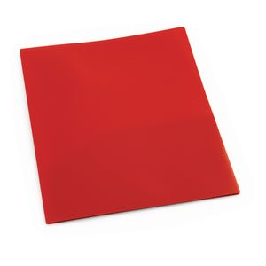 Plastic Pocket Folder, Red