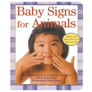 """""""Baby Signs For Animals"""" Board Book"""