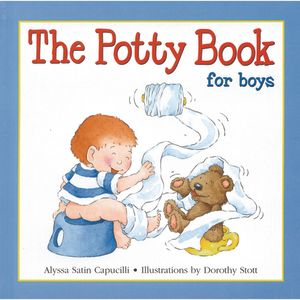 """""""The Potty Book For Boys"""" Hardcover Book"""