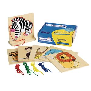 Excellerations® Animal Lacing Cards - 6 Animals