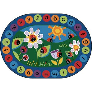 "Ladybug Circletime - 6'9"" x 9'5"" Oval"