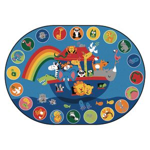 Noah's Voyage Circletime 6' x 9' Oval Kids Value PLUS Carpet