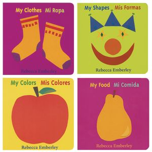 Learning Bilingual Board Books - Set of 4