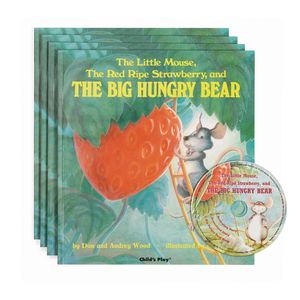 """""""The Red Ripe Strawberry and the Big Hungry Bear"""" - 4 Paperback Books and 1 CD"""