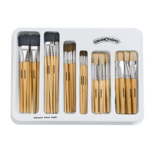 Colorations® Natural Brush Classroom Set